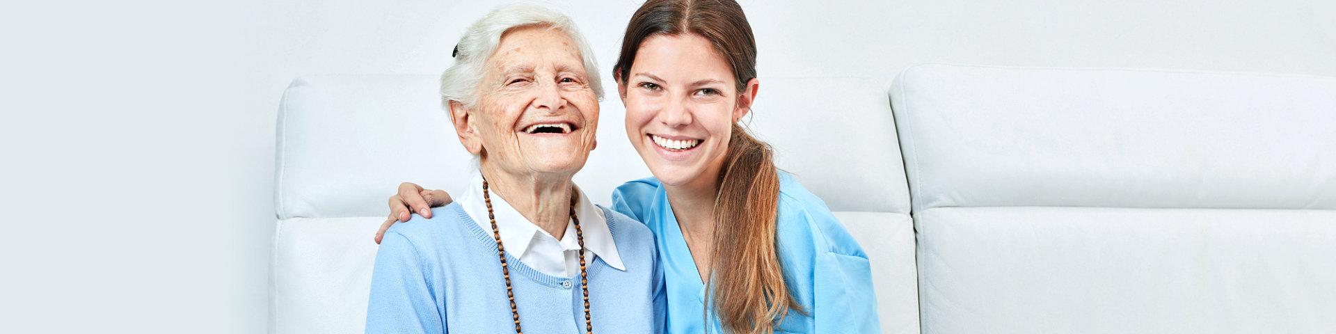 elder woman and her nurse
